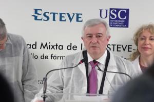 Juan Viaño, rector de USC, destacó el valor de la investigación realizada en la Universidad. / A. Ruiz